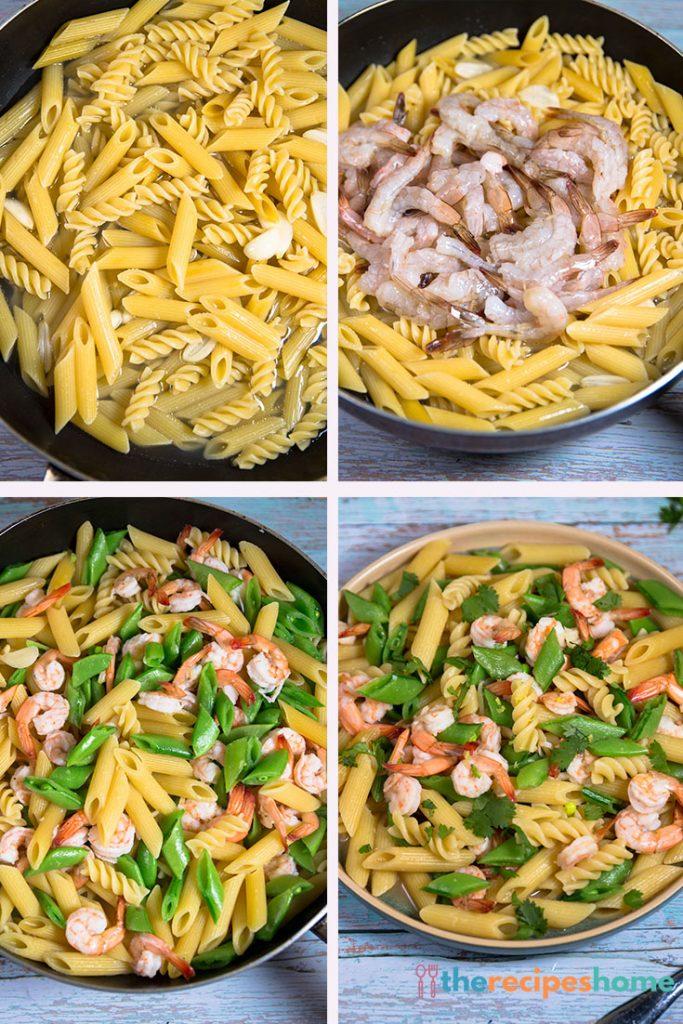 How to make Pasta with Shrimp & Sugar Snap Peas recipes!
