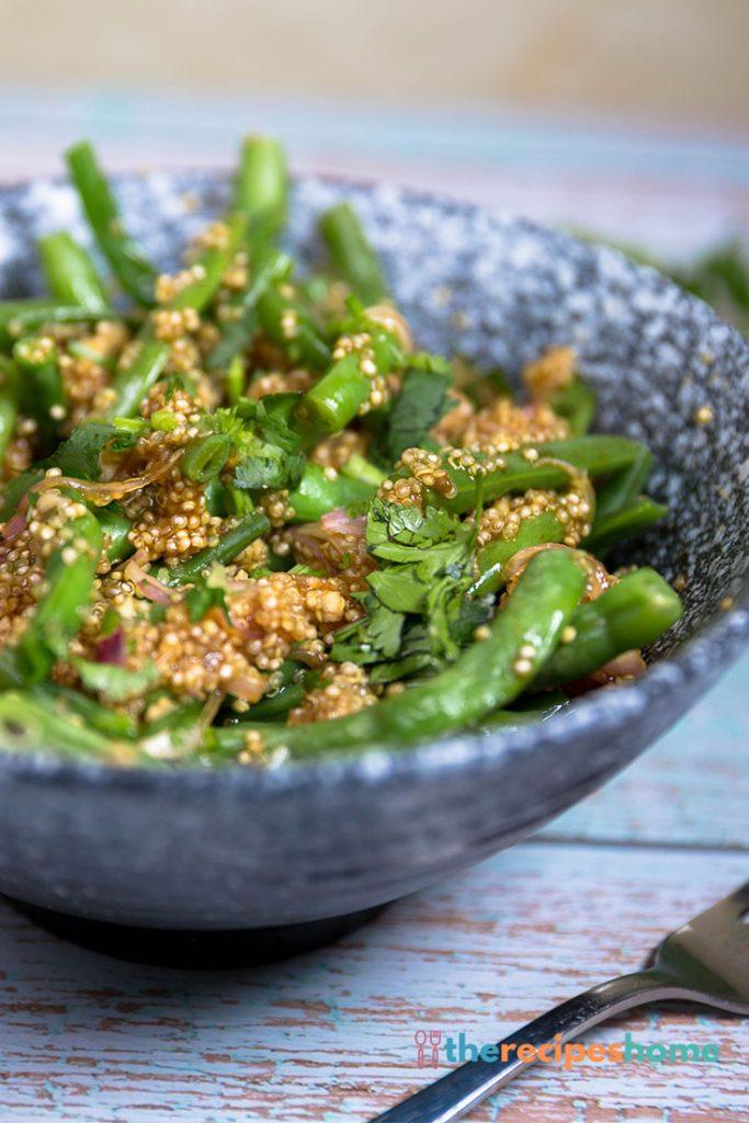 How to make green bean quinoa salad recipes!
