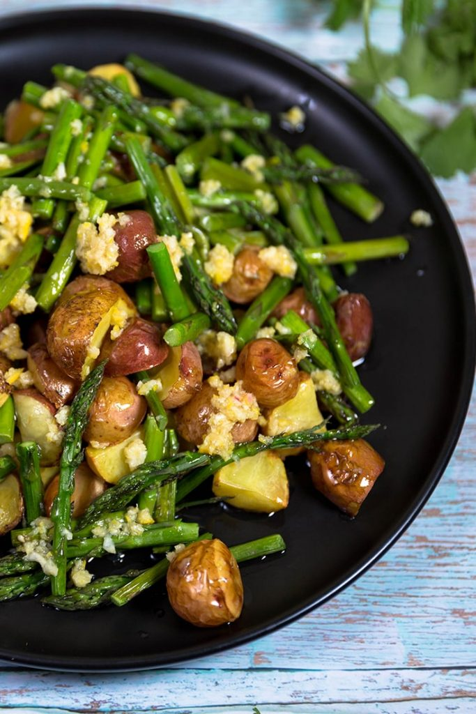 roasted potatoes and asparagus recipes!