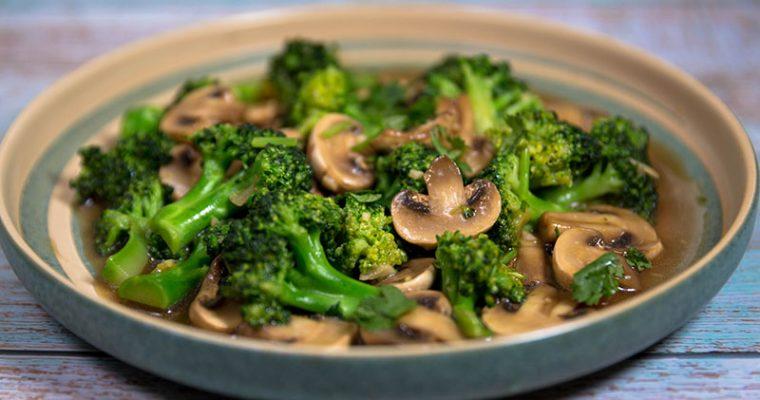 mushroom broccoli stir fry