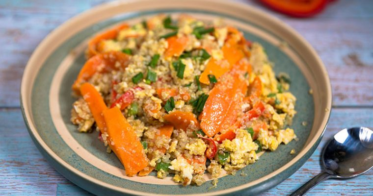 quinoa with eggs