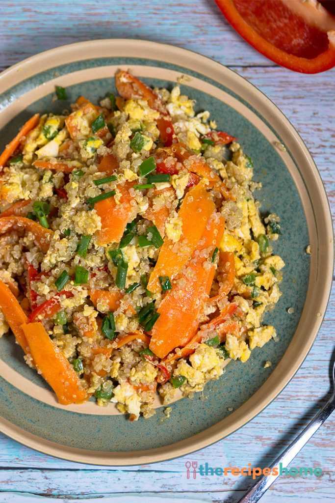 How to make quinoa with eggs and Vegetable recipes!