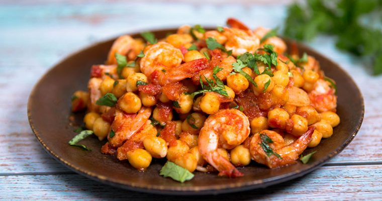 shrimp and chickpeas recipes