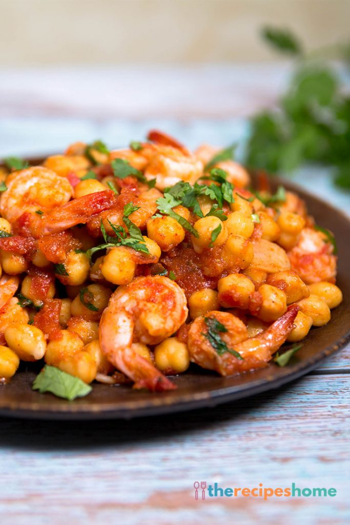 How to make shrimp and chickpeas recipes!