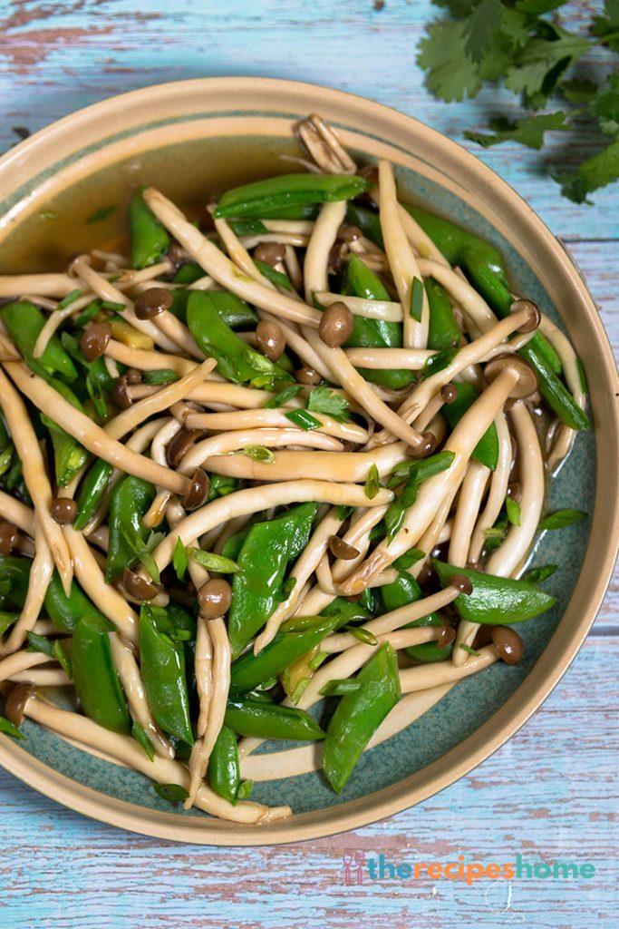 How to make mushroom Stir Fry with Peas recipes