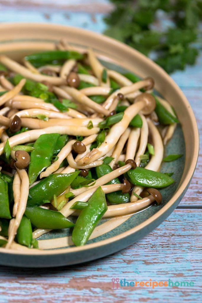 Mushroom Stir Fry with Peas