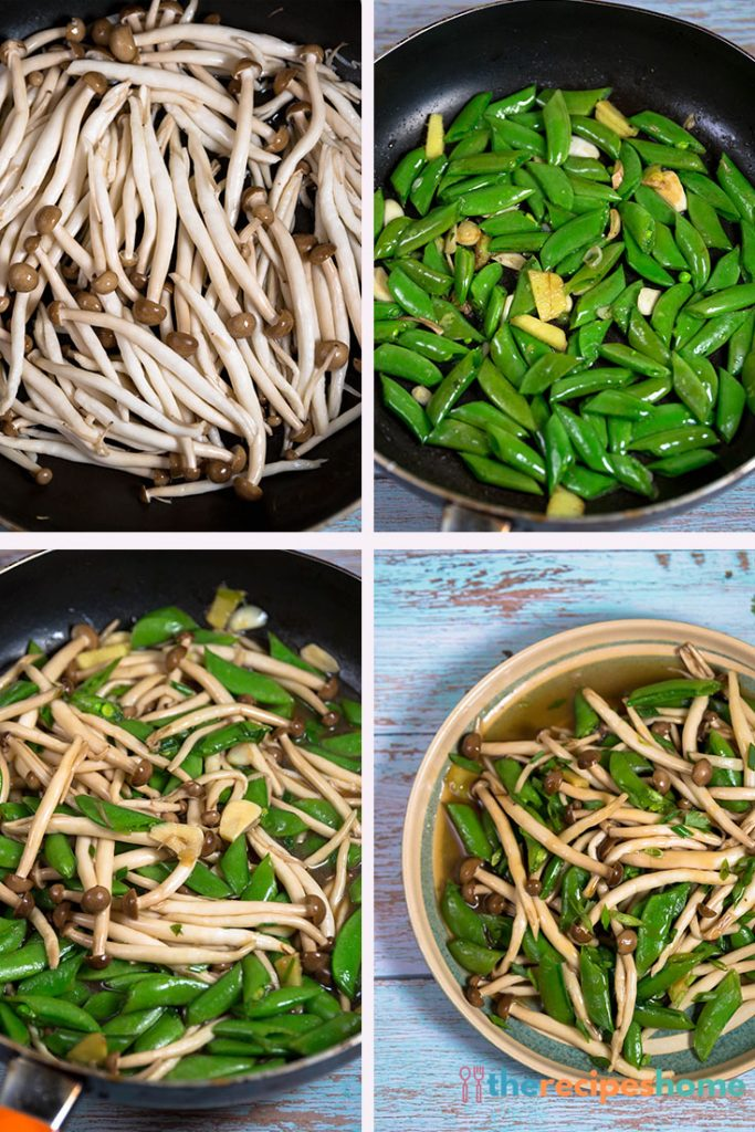 How to make mushroom Stir Fry with Peas recipes