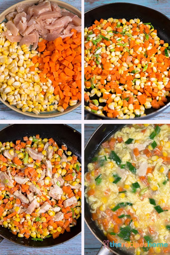 How to make chicken and sweet corn soup recipes!