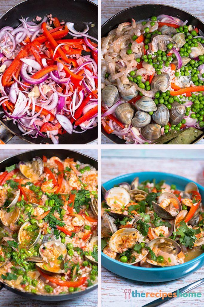 How to make seafood paella recipes!