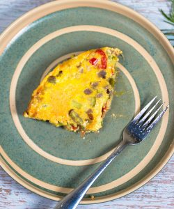 caramelized onion and zucchini frittata